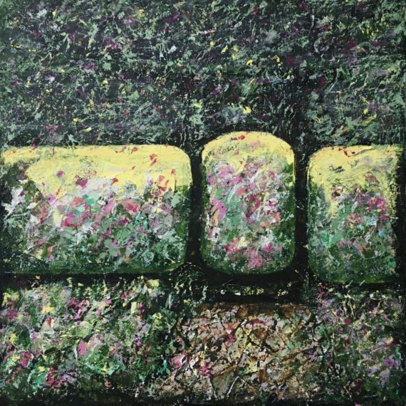 Lynne Forrester, Artist: Natural Beauty (mixed media painting on canvas)