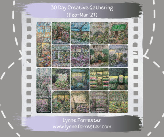 Lynne Forrester, Artist: Shop Front paintings created throughout February as part of the 30 Day Creative Gathering