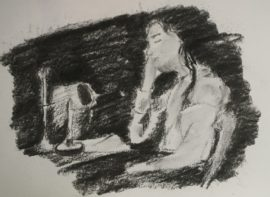 Lynne Forrester, Artist: Life Drawings inspired by the Chiaroscuro Technique