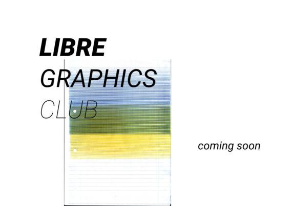 Libre Graphics Club 1st event invitation image