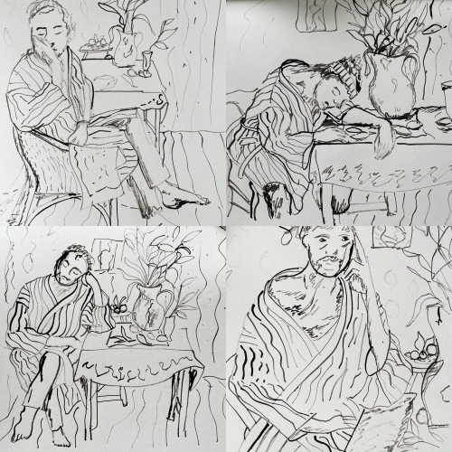 Lynne Forrester, Artist: Life Drawings Inspired by Matisse