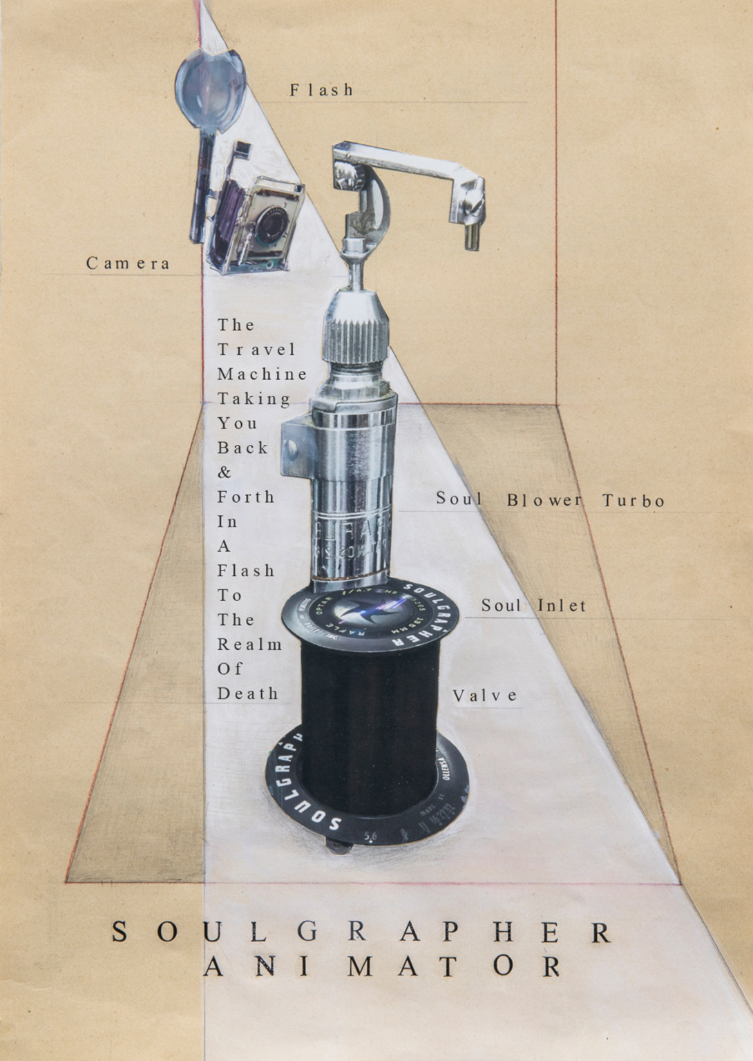 Collage drawing, Ghost Weight Experience, Andrea G Artz 2021