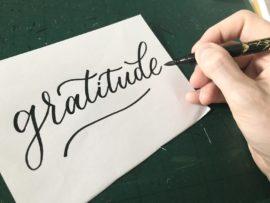 Gratitude in calligraphy