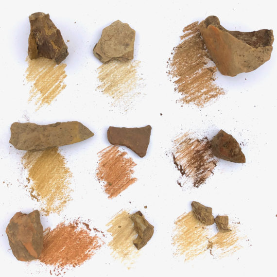 Pigments from stones