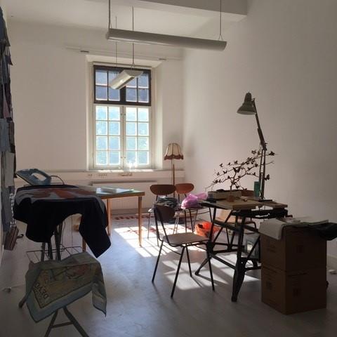 Interior view of Stuart Mayes' studio.