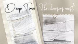 Deep time: draft drawings on banner