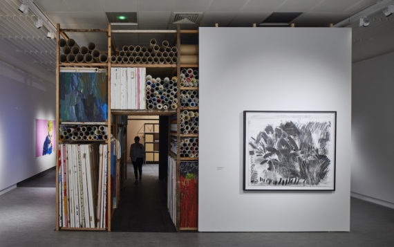 A colour photograph of Project Art Works installation at the Herbert Gallery